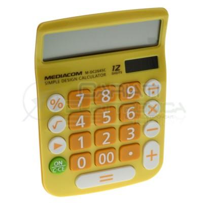 Calcolatrice solare 12 Cifre Tasti grandi Desktop Mediacom DC2645C Mediacom