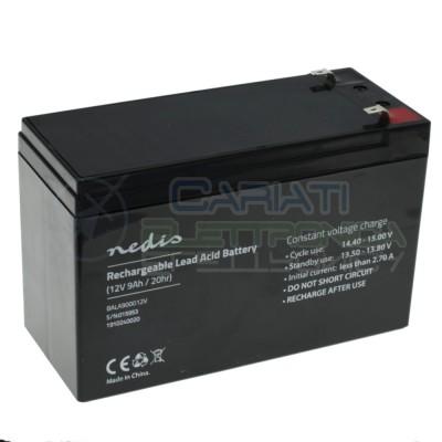 Batteria 12V 9000mAh 9Ah piombo-acido ricaricabile 150x65x95mm ermeticaNedis