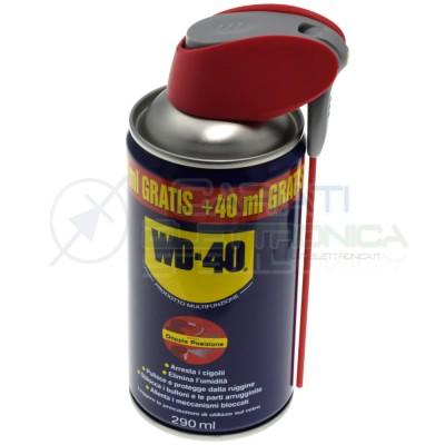 WD-40 Wd40 Lubrificante Professionale Multiuso Spray con Erogatore Doppia Posizione 290ml WD-40