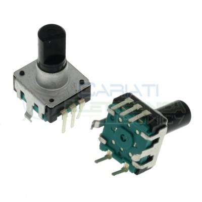 Encoder rotativo audio 5 PIN con Pulsante e albero 9mm Generico