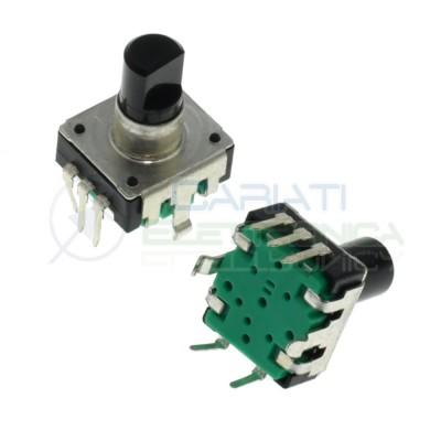 Encoder rotativo audio 5 PIN con Pulsante e albero 6mm Generico