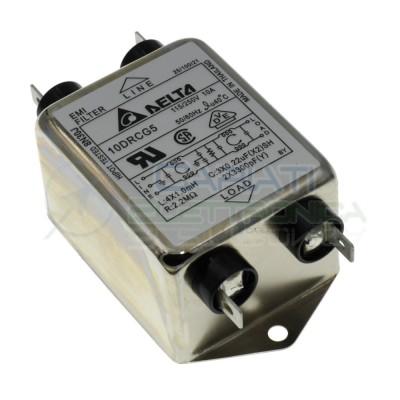 Filtro di rete EMI 250Vac 10A 10DRCG5 con Terminali Faston Delta ElectronicsDelta elettronics