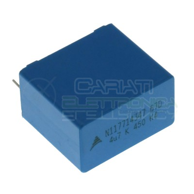 Condensatore in Polipropilene 4,7uF 4,7 uF 450Vdc Passo 27,5mm B32674EPCOS