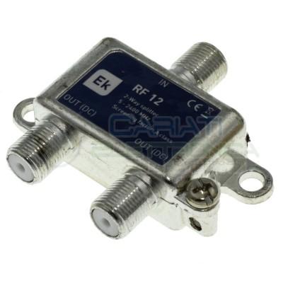 Partitore Splitter RF12 con connettori F 2 uscite verticaleEKSELANS