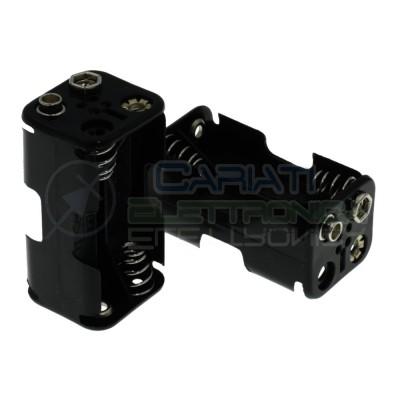 Porta Batterie PortaBatteria Per 4 Pile Pila AA con Attacco Snap Comfortable Electronic