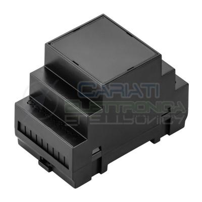 Contenitore Custodia DIN per Guida 90x53x65 mm Antifiamma V0 Grigio Domotica Krade
