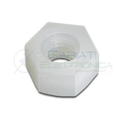 50 Pezzi Dado M4 in Plastica Nylon Distanziali Dadi Generico