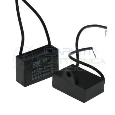 Condensatore elettrico Cbb61 2uF 450V di spunto per motore ventilatore Generico