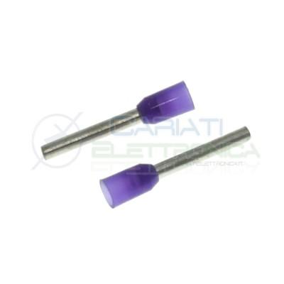 20 Pezzi Capicorda Connettore a tubo boccola per cavi da 0,25 mm2 Lunghezza Terminale 8mmGenerico