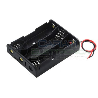 Holder Battery with cable for 3 Battery 18650Generico
