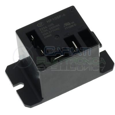 Relay coil 220V JQX-105F-4-220V-1HS HF105F-4-220A-1HS 30A SpstHONGFA RELAY