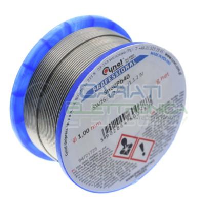 100g Bobina rotolo stagno 1mm Sn60 Pb40 flux 2.5% Sw26 Cynel