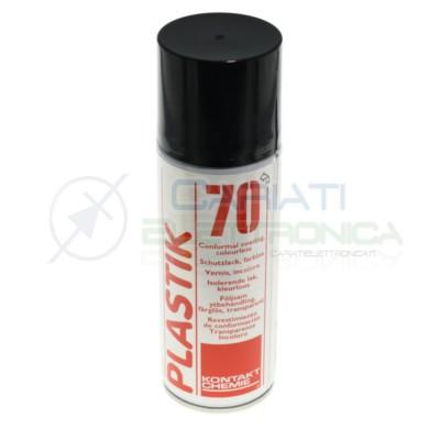 Plastik 70 Lacca Spray universale da 200ml Vernice incolore rivestimento per circuiti stampati Kontakt Chemie