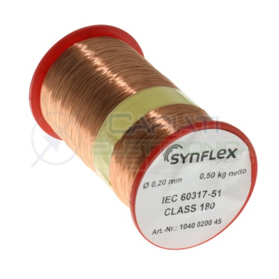 Coil wire single coated enamelled 0,2mm 0,5KgSynflex