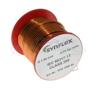 250g Rotolo filo di rame da 1,80mm singolarmente smaltato per avvolgimenti Cavo bobina 0,25 kgSynflex