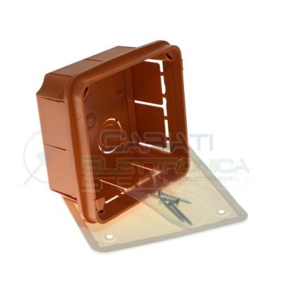 Scatola cassetta di derivazione 92x92x45mm FG10208 incasso a parete Faeg