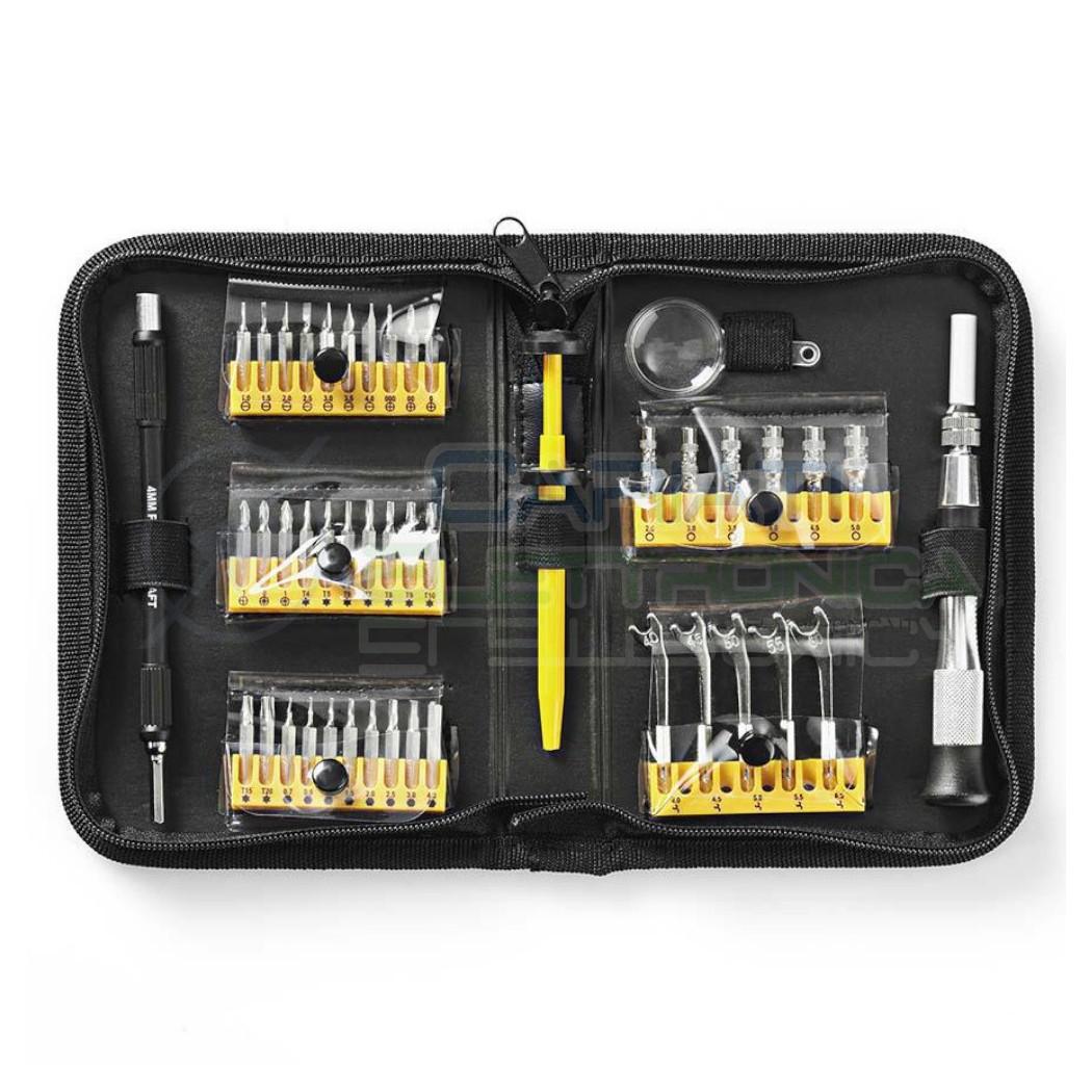 47pz Set di Precisione Cacciaviti tools Riparazione Torx Telefono Laptop Kit Accessori Nedis
