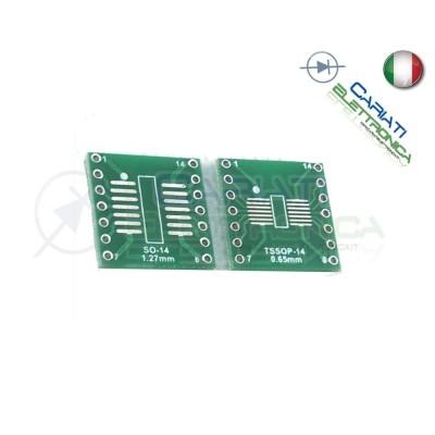 Adattatore Basetta Test PCB SOP14 SSOP14 Tssop14 a DIP14 14pin