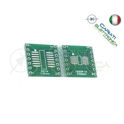 Adattatore Basetta Test PCB TSSOP14 SSOP14 a DIP14 14pin 1,00 €
