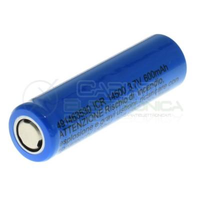 Batteria 14500 ICR14500 ricaricabile 600mAh 3,7V MKc MKC
