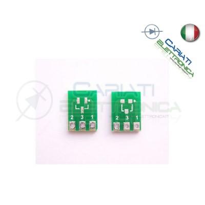 2 Pezzi Adattatore Basetta Test PCB SOT23 a SIP3 3 Pin
