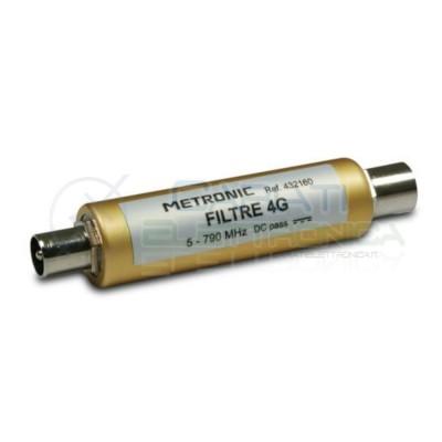 Filtro 4G LTE antenna Tv mas/fem 9,52mm Metronic Metronic