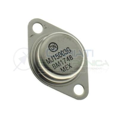 MJ15003G Transistor BJT Audio NPN 140V 2MHz 250W 20A 25hFEOn semiconductor