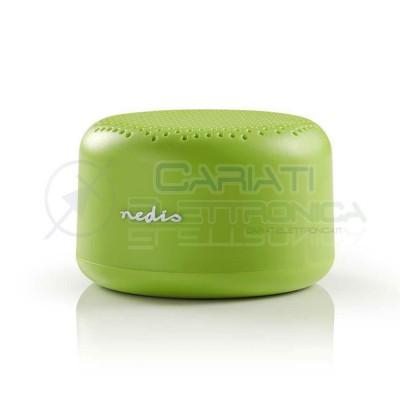 Altoparlante Cassa Bluetooth 9W Fino a 3 ore di autonomia di gioco colore Verde Nedis