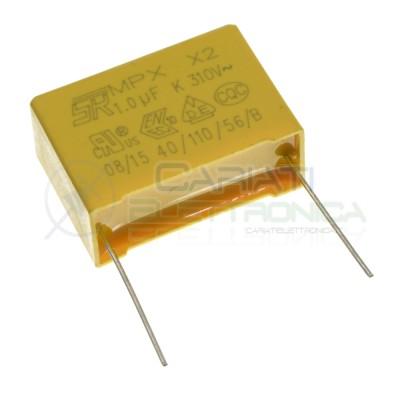 Condensatore in Poliestere MKP 1,5uF 310ac X2 Passo 27,5mm 1500nF 10%  Dimensioni cassa: 31,5x19,5x10,8mm Passo: 27.5 mm SR P...