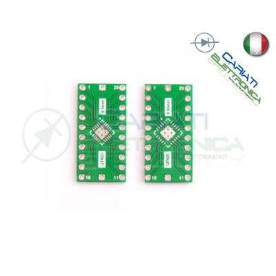 Adattatore Basetta Test PCB QFN20 0.65mm 0.5mm a DIP20