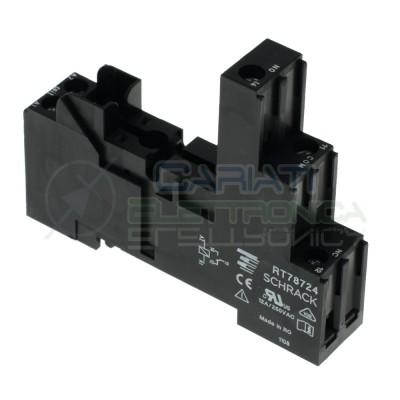 Portarelè Zoccolo DIN 1 scambio 12A per Relè 5 pin Pcb porta RelaySchrack