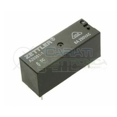 AZ6961-1C-24DE Relay voltage coil 24V Spdt 8A 250V 5 pinsZettler