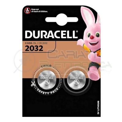 2x BATTERIA DURACELL LITHIUM 2032 CR2032 CR 2032 DL2032 Duracell