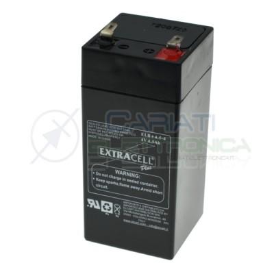 Batteria al piombo ricaricabile 4V 4,5ah ricambio Bilancia elettronica 4 Volt Extracell