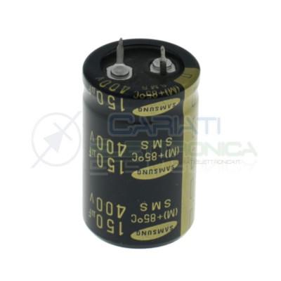 Condensatore elettrolitico Samsung Snap-in 150 uF 150uF 400V 85°C 22x40mm Daewoo