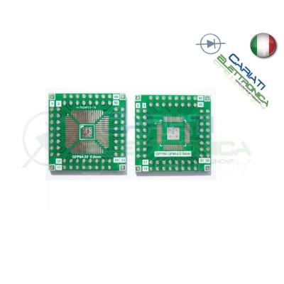 Adattatore Basetta Test PCB QFN64 QFP64 56 48 40 32 Pin a DIP