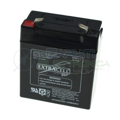 Batteria al piombo ricaricabile 4V 3ah ricambio Bilancia elettronica 4 Volt Extracell