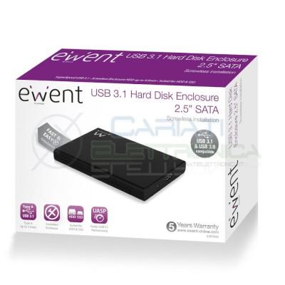 "Box Esterno Hard Disk Sata 2,5"" Usb 3.1 Ewent Ew7044 Ewent"