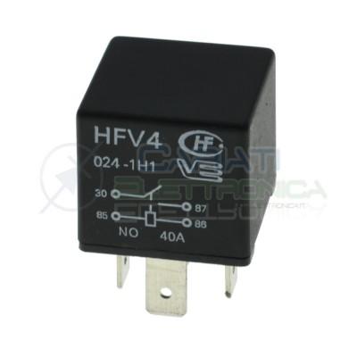 HFV4 Relè 24v 30A 40A Relay Auto Camper Universale 4 Contatti HONGFA RELAY