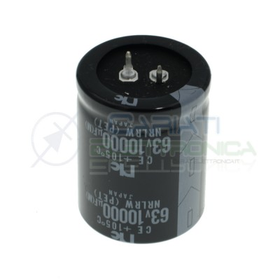 Condensatore Elettrolitico SNAP-IN 10000uF 63V 35x45 105° Passo 10mmNIC Components