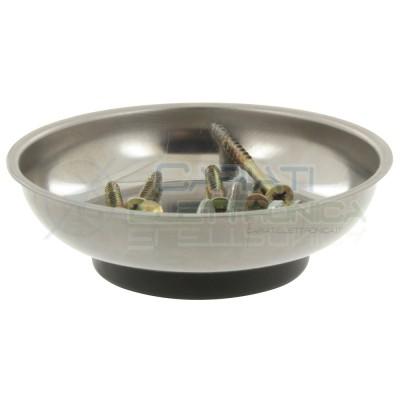 Vassoio vaschetta porta oggetti magnetico contenitore in alluminio per elettronica Donau
