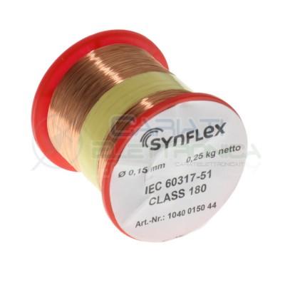 copy of Rotolo filo Cavo bobina di rame singolarmente smaltato da 0,75mm 0,5Kg per avvolgimentiSynflex