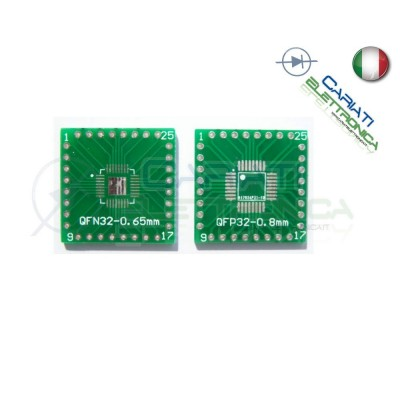 Adattatore Basetta Test PCB QFP32 QFN32 a DIP32