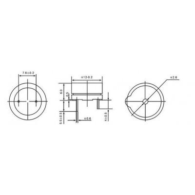 Cicalino Buzzer attivo 3V Con Oscillatore Integrato Diametro 12mm