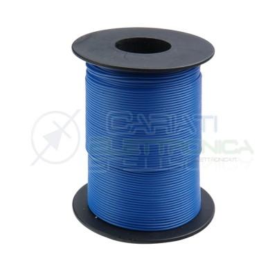 100m Bobina Cavo unipolare multifilare da 0,14mm2 in rame sottile morbido colore Blu Donau