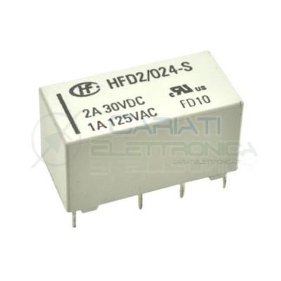 Relay Relè 24V Dc 2A DPDT HFD2/024-S-L1 Circuito Stampato Pcb 2 Scambi HONGFA RELAY