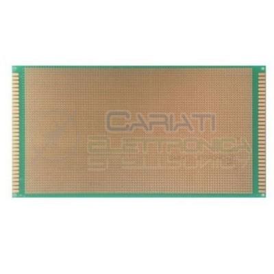 Basetta millefori 250x130mm in Vetronite Mono Faccia Passo 2,54mm BreadboardCariati Elettronica