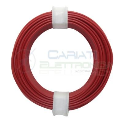 10m Cavo unipolare multifilare da 0,25mm2 in rame sottile morbido colore Rosso Donau