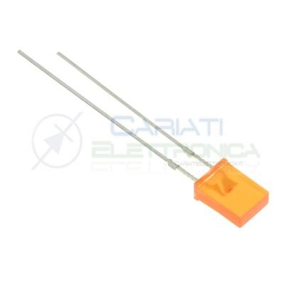 10 pezzi Led Arancione rettangolare rettangolari 110° 2x5x7mm Flat Top Generico