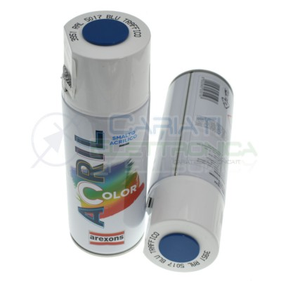 Smalto Acrilico Vernice Spray 3951 RAL5017 Blu Traffico Arexons